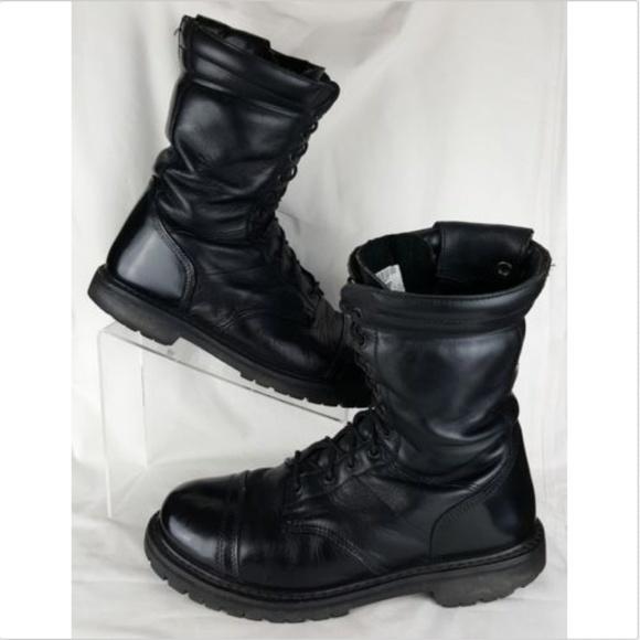 03747049eec Rocky Paraboots Size 10.5 Black Leather Combat